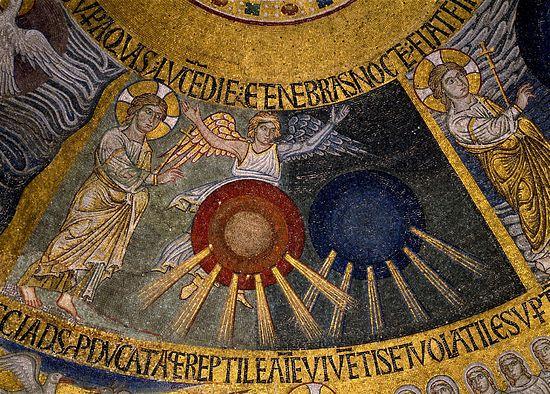 Сотворение света (Быт. 1, 3-5) (Сотворение мира). Западный рукав; Собор Святого Марка; Венеция, XIII в.