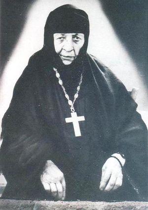 Игумения Зоили, крестная мать Патриарха Илии II