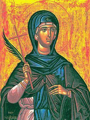 Святая мученица Матрона Солунская