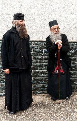 Иеромонах Паисий и игумен Василий, скит святого Спиридона. Гайльнау, Германия