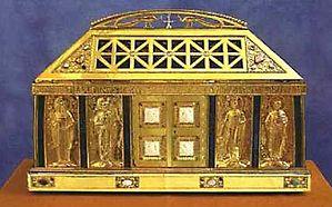 Ковчег с главой святой Берты, матери святого Руперта Бингенского, рукой святого Руперта Бингенского, частью мощей святого Бонифация, апостола Германии