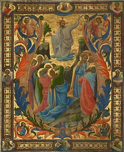 Initial V. The Ascension. Lorenzo Monaco, 1410.