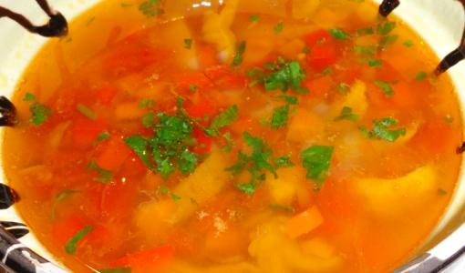 Грибной суп чорба из вёшенок