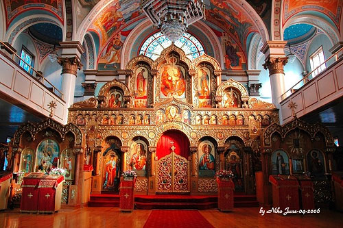 Интерьер Свято-Троицкого храма г. Торонто