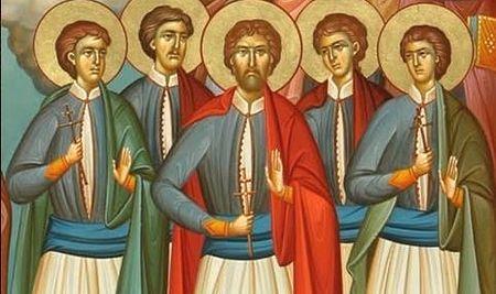 Святые мученики Самофракийские: Мануил, Георгий, Феодор, Георгий и Михаил