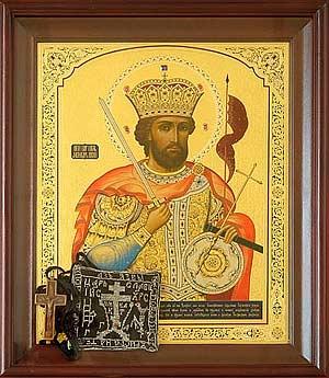 Крест и параман, принадлежавшие прп. Севастиану Карагандинскому
