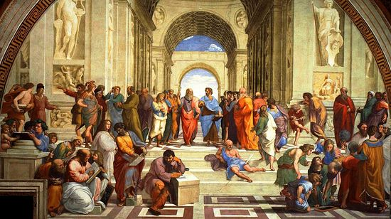 Рафаэль. Афинская школа (философия). Ватикан, 1511 г.