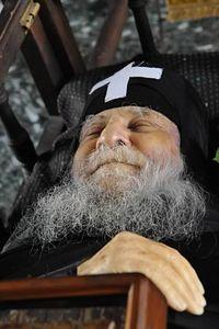 Старец Иосиф Ватопедский. Посмертная фотография