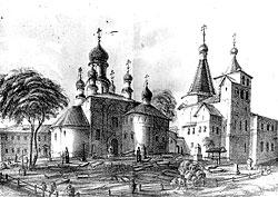 Серпуховский Введенский Владычний Монастырь. рисунок.