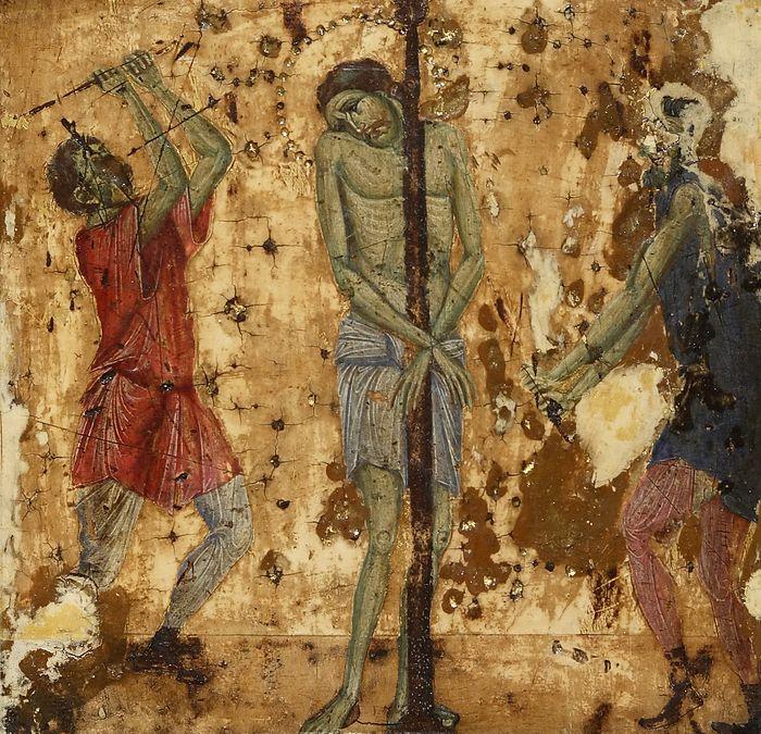 Бичевание Христа. Венеция. XIII в.