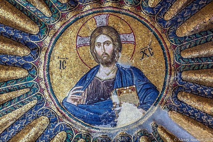 Господь Вседержитель, мозаика (Константинополь, монастырь Хора, XIII в.) Фото: А.Смирнов