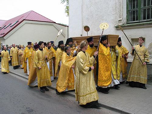Крестный ход с мощами священномученика Сергия