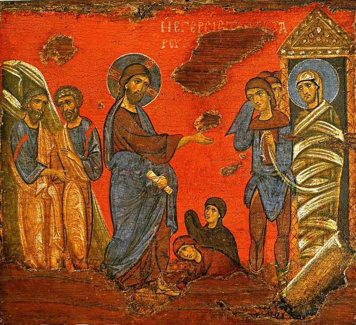 The resurrection of Lazarus.