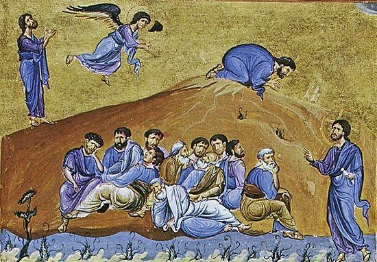 Византия; XI в.; памятник Евангелиарий (Athos, Dionisiou 587); местонахождение Греция. Афон, монастырь Дионисиат
