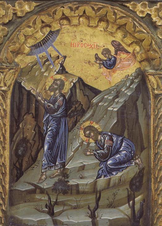 Гефсиманское моление. Соборный храм монастыря Пантократор на Афоне XVI в.