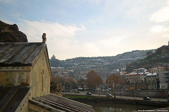 Вид от церкви св. Або Тбилисского