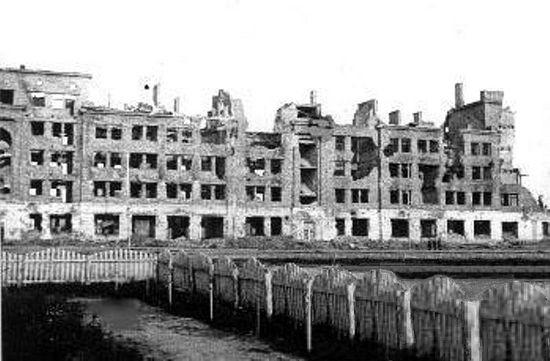 Ржев, центр города. Март 1943 года