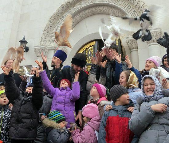 Благовещение. Храм Св. Серафима Саровского, Москва. Фото: Елена Фетисова