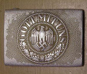 Пряжка немецкого ремня со словами «Gott mit uns» («С нами Бог»)