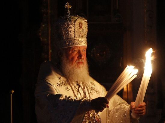 Kirill, Patriarch of Moscow and All Russia, leads an Orthodox Easter service in the Christ the Saviour Cathedral in Moscow May 4, 2013. Photo: Reuters