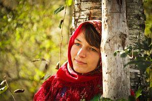 A Russian Orthodox woman wearing a traditional scarf. Photo: Yulia Smorodova.