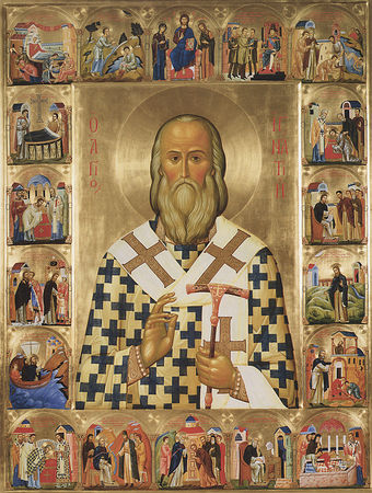 Icon of St. Ignatius Brianchaninov with life.
