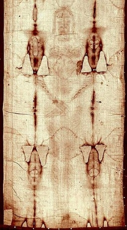 Front image of the Shroud of Turin