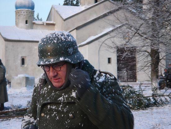 Александр Сегень в роли Отто Кугеля. На съемках фильма «Поп»
