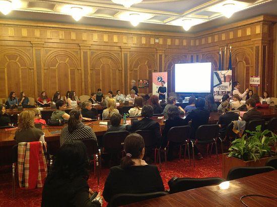 Презентация программы «Секс против аиста» в парламенте Румынии