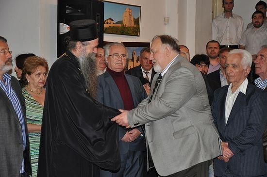 Директор Русского дома М.Г. Денисов и епископ Будимлянско-Никшичский Иоанникий