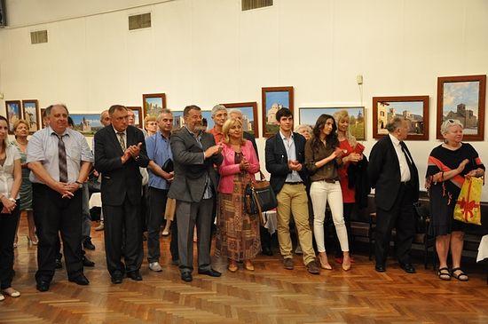 Гости на открытии выставки в Русском доме