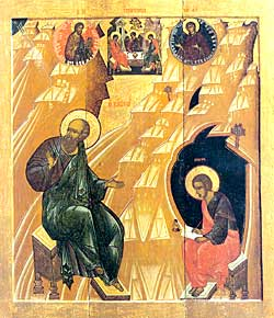 Святой Иоанн Богослов на о. Патмос