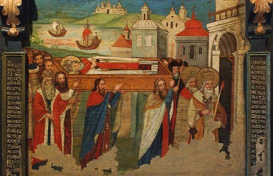 Перенесение мощей святителя Николая Чудотворца в Бари