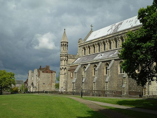 St Albans Cathedral, Hertfordshire, St. Alban. Photo: I. Lapa