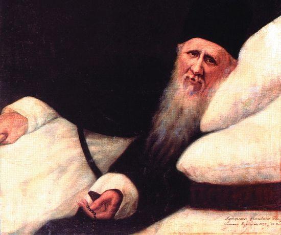 Преподобный Амвросий Оптинский на одре болезни