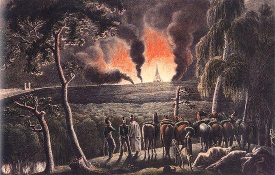 Смоленск, 17 августа 1812 г., 10 часов вечера. Художник Х.В. Фабер дю Фор. 1830-е гг.