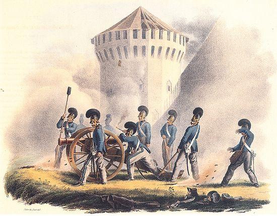 У стен Смоленска 6 (18) августа. Художник Х.В. Фабер дю Фор. 1830-е гг.