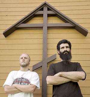 Nathan Roose, left, and Daniel Marker, released their debut CD 'Christian Rap' (Andy Cripe | Corvallis Gazette-Times)