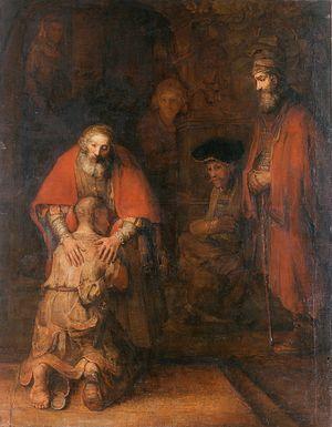 Рембрандт Харменс ван Рейн. Возвращение блудного сына. Ок. 1666-69. Эрмитаж, Санкт-Петербург