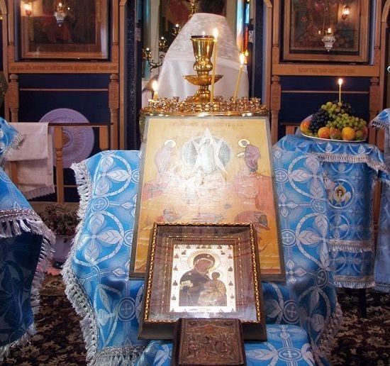 Иверская икона Божией Матери, пришедшая в храм накануне экспедиции