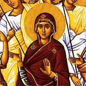 5. The Theotokos (detail).