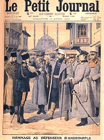 Генерал Скобелев во время Русско-турецкой войны в окрестностях Константинополя. 1878 г.