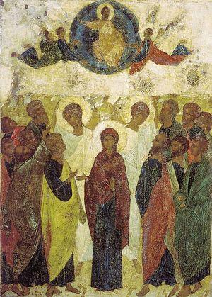 Ascension. 1408. Andrew Rublev