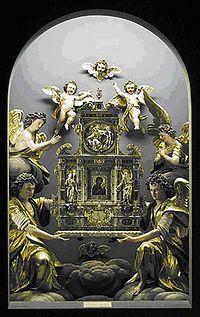Алтарь с иконой «Агосоиритисса» в музее во Фрайзинге