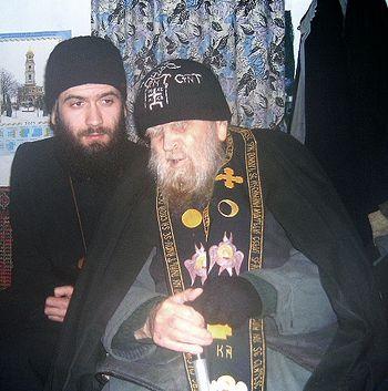 Иеросхимонах Селафиил и отец Савватий (Бастовой)
