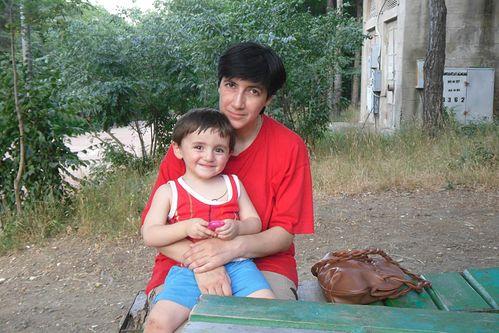 Мария Сараджишвили с сыном