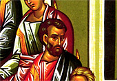 5. Saint Mark the Evangelist, who was not present with the twelve Disciples on this day, is included (detail).