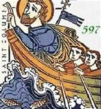 Св. Колумба плывёт в Шотландию.