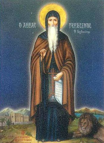 Saint Gerasimos of Jordan.