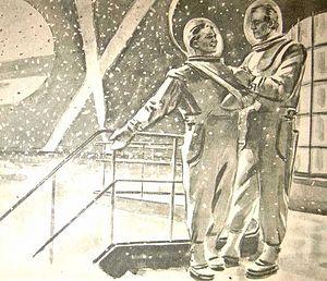 Иллюстрация к роману И.Ефремова «Туманность Андромеды»